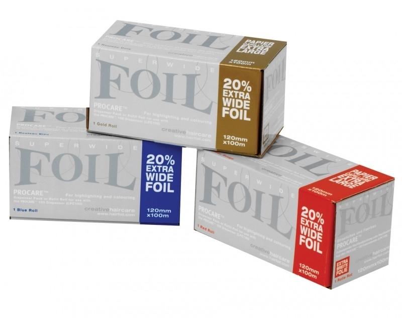12 rollen Procare Premium folie, 100 m X 12 cm, 18 mu, assorti kleur