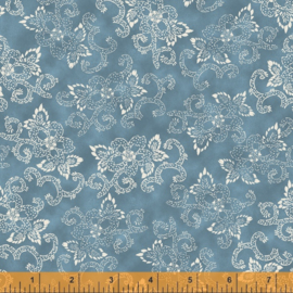 willow 52567-3 Flowers & Curves Denim