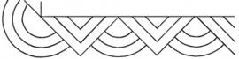pc-1309W 2 Modern Geomatric border