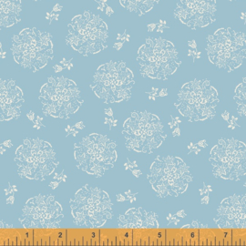 willow 52570-5 Circle of flowers Powder Blue
