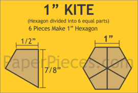 "Hexagon 1""kite"