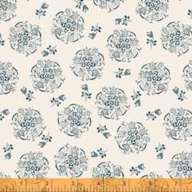 willow 52570-4 Circle of flowers Ivory