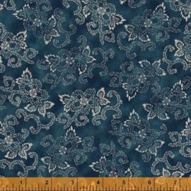 willow 52567-1 Flowers & Curves Indigo