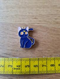 Needleminder metaal kat blauw