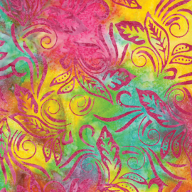 Batik 9622-99 banana leaf rainbow