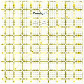 omnigrid quiltliniaal 9,5 x9,5 inch