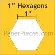 "Hexagon 1"" 100stuks"