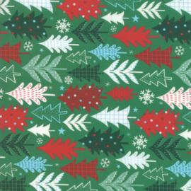 35340-15 kerstboom groene ondergrond