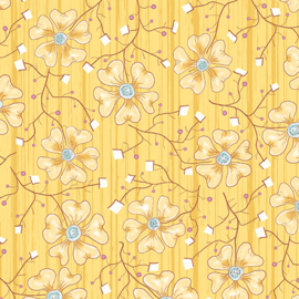 6921P-30 Fun Flowers Yellow