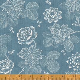willow  52564-3  Stippled Floral Denim