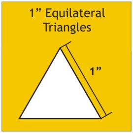 1 inch equilateral triangel 100 stuks
