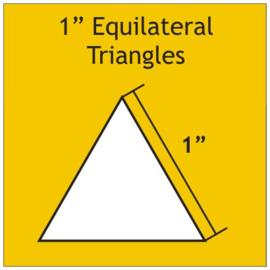 1 inch equilateral triangel 100 stuks