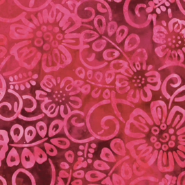 Batik 9620-24  flower patch raspberry