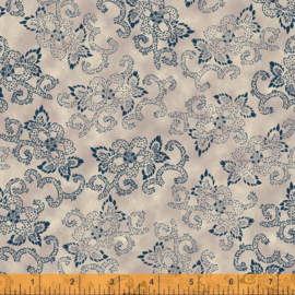willow 52567-2 Flowers & Curves Linen
