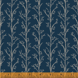 willow 52565-1  Blooming Branches Indigo