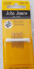 John James Big Eye Quiltnaalden size 10