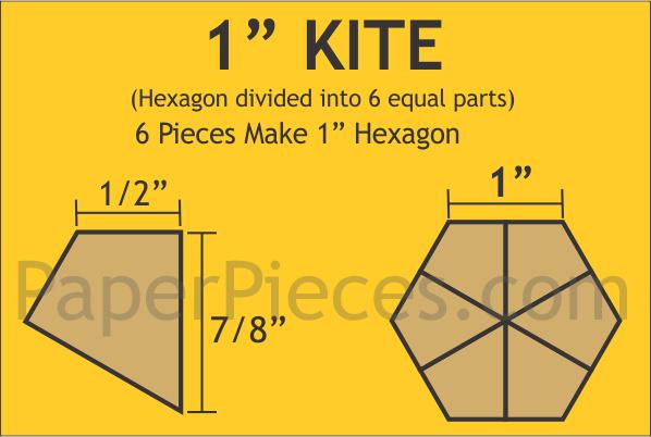 """Hexagon 1""""kite"""