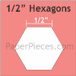 "Hexagon  1/2"" 125stuks"