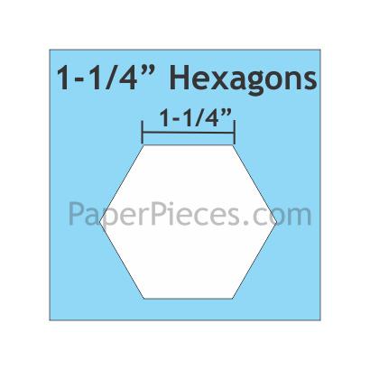 "Hexagon 1-1/4 "" 75 stuks"