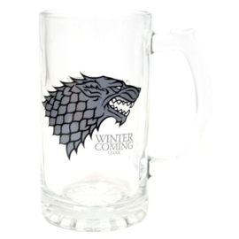 Game of Thrones Stark Winter is Coming glass mug/jug