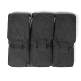 Warrior Elite Ops MOLLE Triple M4 - 5.56mm Mag Pouch / Non Slip Retention (BLACK)
