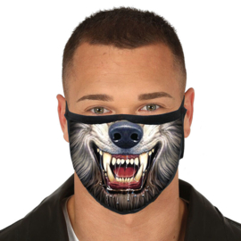 Wolf reusable mask 3 layers