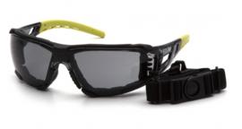 PYRAMEX FYXATE Foam Padded Goggle - GREY H2MAX Anti-Fog Lens