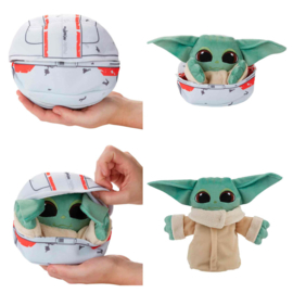 HASBRO Star Wars The Mandalorian Baby Yoda transform plush toy