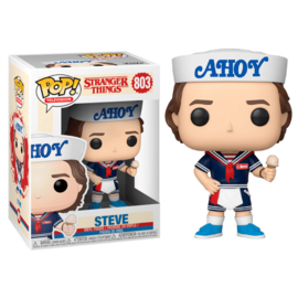 FUNKO POP figure Stranger Things 3 Steve with Hat and Ice Cream (803)