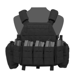 Warrior Elite Ops MOLLE DCS BASE with 5 Open Mags, 2 Utility Pouches (BLACK)
