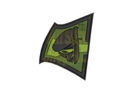 JTG Rebel Skull Rubber Patch - Forest