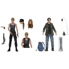 Terminator 2 Judgment Day Sarah Connor and John Connor set 2 figures - 18cm