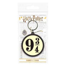 Harry Potter 9 3/4 rubber keychain