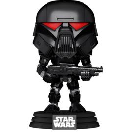 FUNKO POP figure Star Wars Mandalorian Dark Trooper Battle (466)