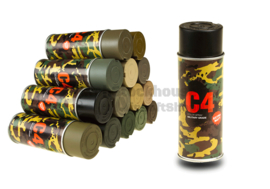 C4 Mil Grade Color Spray Paint / Verf (9 Color)