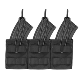 Warrior Elite Ops MOLLE Triple Open AK 7.62mm Mag / Bungee Retention 3 Mag (4 COLORS)