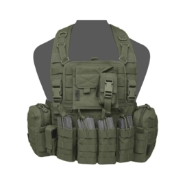 Warrior Elite Ops MOLLE 901 ELITE M4 with 2 Utility, Admin, Compass, Single Pistol, 4 x M4 Open Mags, with zip (OLIVE DRAB)