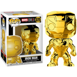 FUNKO POP figure Marvel Studios 10 Iron Man Gold Chrome (375)