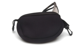 PYRAMEX Zippered Neoprene Case for Glasses (BLACK)