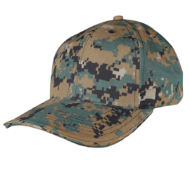 TRU-SPEC ADJUSTABLE BALL CAP (DIGITAL WOODLAND)