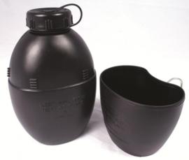 WEB-TEX 58 PATT Water Bottle & Cup (BLACK)