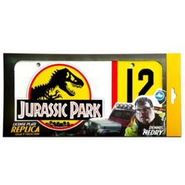 Jurassic Park Dennis Nedry number plate replica