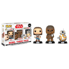 FUNKO POP Rebel 3 pack figures Star Wars - Good Guys - Exclusive