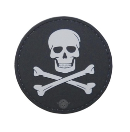 5-Star Morale Patch, JOLLY ROGER (BLACK)
