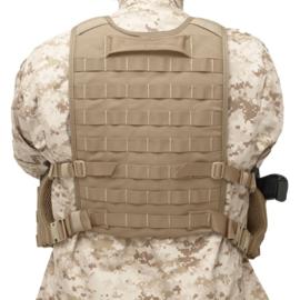 Warrior Elite Ops MOLLE Back Panel holds Medium - Large Plates / Internal Plate Height Adjustment (3 COLORS)