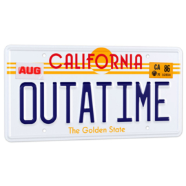 Back to the Future DeLorean Outatime license plate - replica