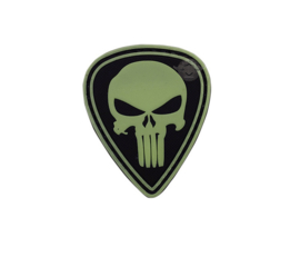 5-Star PVC MORALE PATCH - GLOW IN THE DARK - PUNISHER DIAMOND