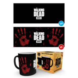 The Walking Dead. Hand Print heat change mug