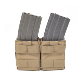 Warrior Elite Ops MOLLE Double Snap Mag Pouch for M4 - 5.56mm (COYOTE TAN)