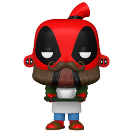 FUNKO POP figure Marvel Deadpool 30th Coffee Barista (775)
